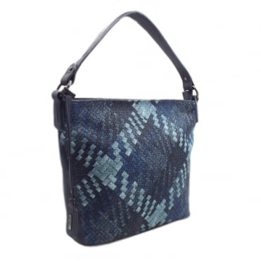H1309-14 Zodiac Women's Fashion Boho Handbag in Blue