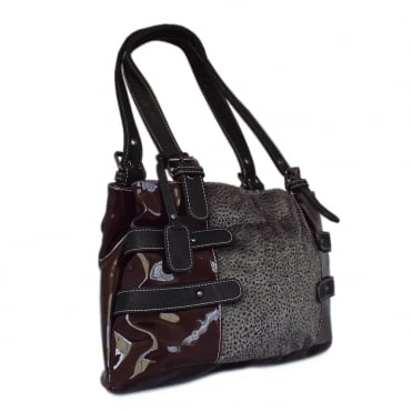 H1317-35 Brisbane Women's Handbag in Bordeaux