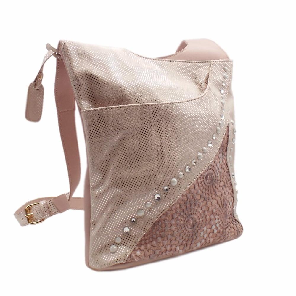 Rieker H1438 31 Yasmin Womens Fashion Cross Body Bag In Rose