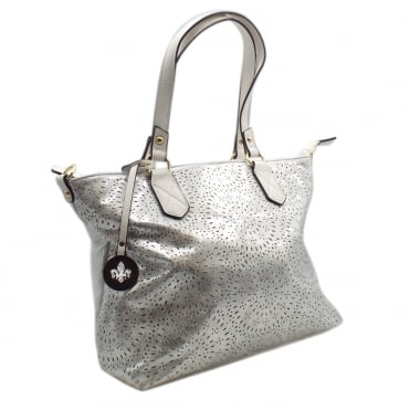 H1456-90 Trisha Women's Fashion Handbag in Silver