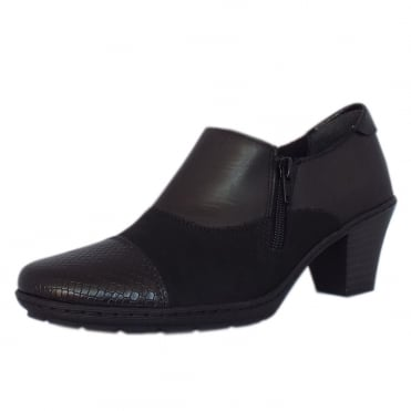 Harriette Casual Low Heel High Top Shoes in Black