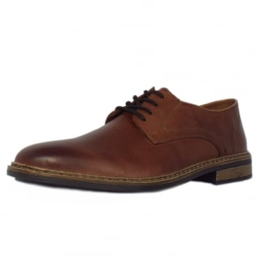 Rieker Highland Men's Casual Lace Up Shoes in Brown Leather