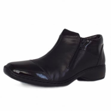 Kingsmead Comfortable Roomy Fit Ankle Boots in Black