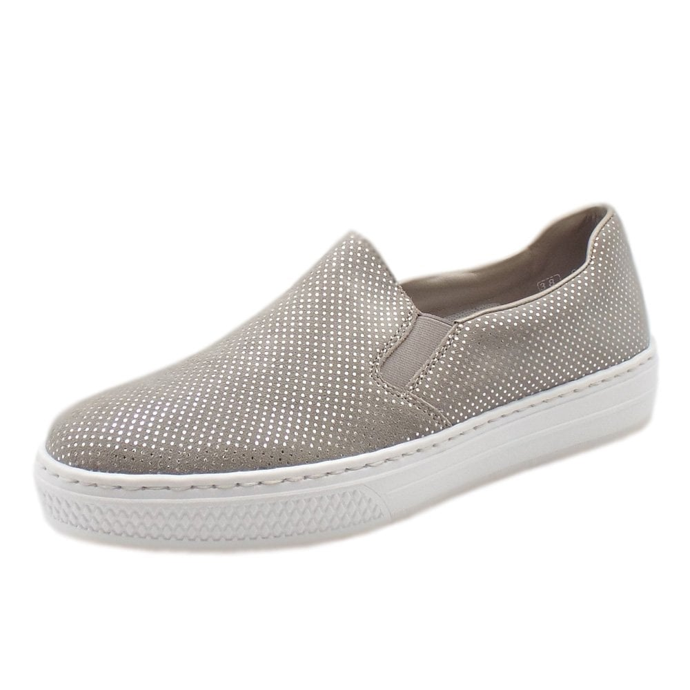 low priced 047d5 82c52 L5966-42 Pisa Modern Summer Loafers in Grey