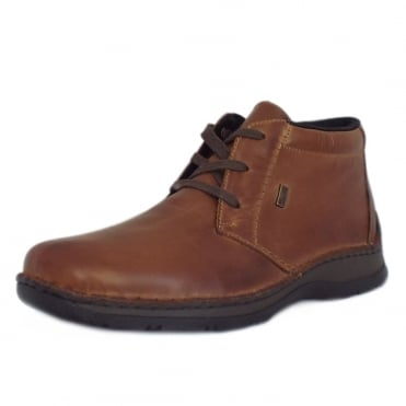 Liam Riekertex Mens Ankle Boot in Brown Leather