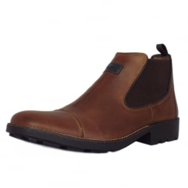 Luther Men's Winter Pull On Chelsea Boots in Brown
