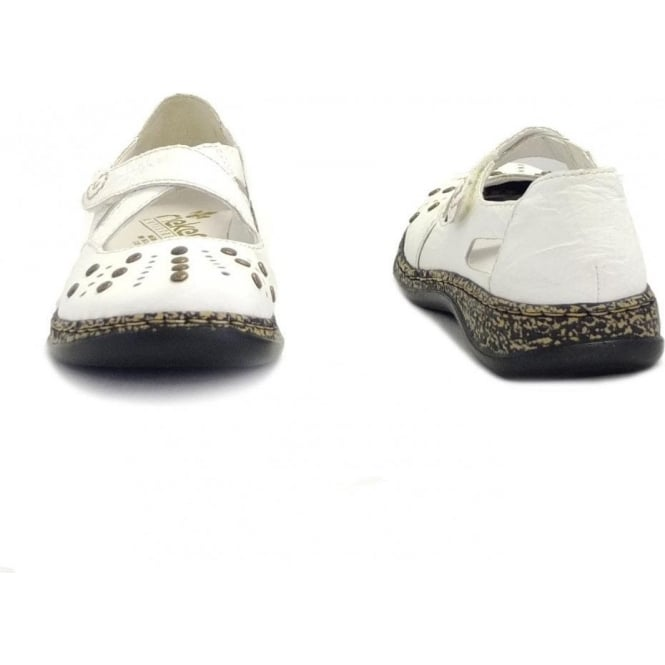 Massa White Leather Casual Ladies Shoes