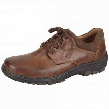 Maverick Men's Casual Lace Up Shoes in Brown Leather