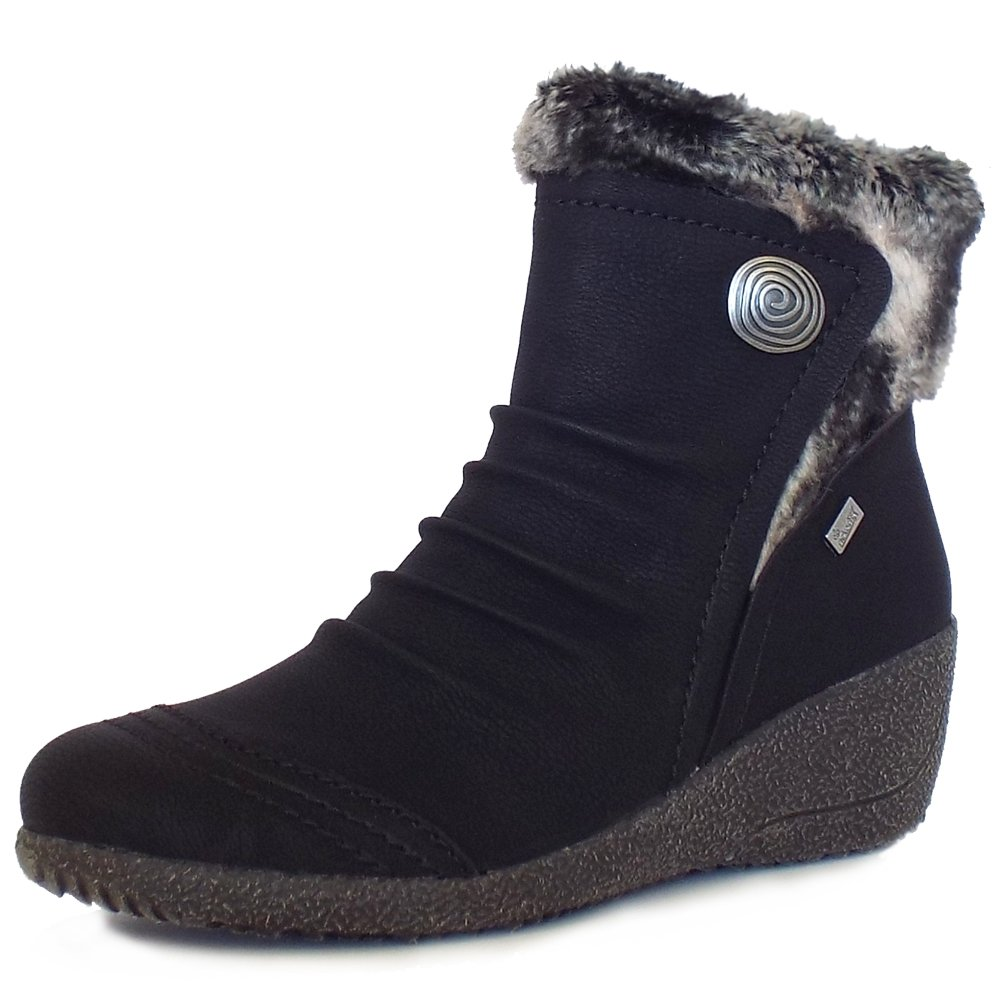 rieker mombasa s comfortable winter ankle boots