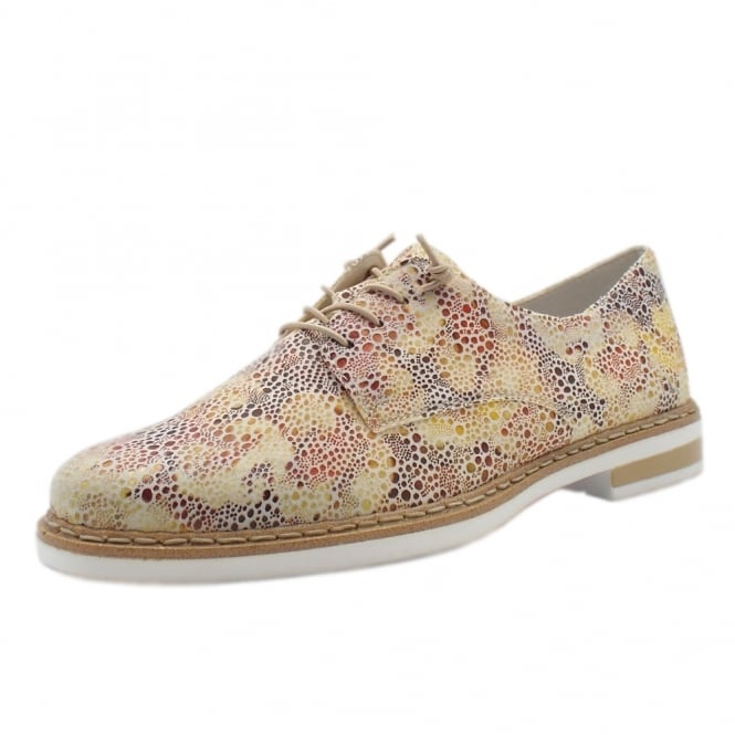 Rieker N0400-90 Savanna Smart Casual Lace-Up Shoes in Multi Colour