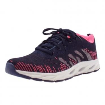 N9300-14 Spring Step Sporty Mesh Trainers in Navy