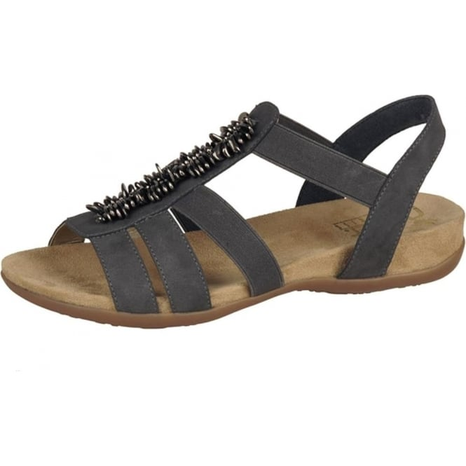 Rieker Neopolitan Comfortable Fashion Sandals in Taupe