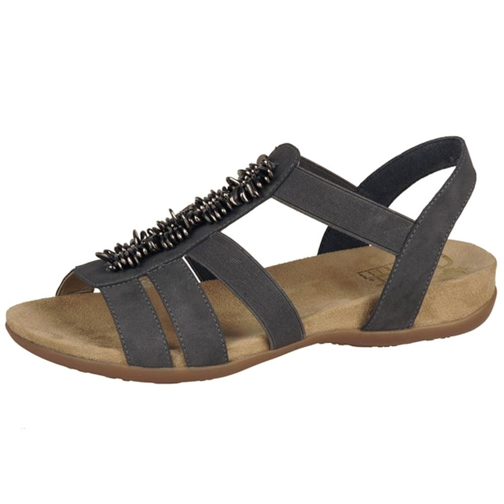 Awesome Rieker Antistress Costa Rica | Womenu0026#39;s Comfortable Denim Blue Sandals