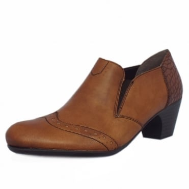 Ontario Casual Low Heel High Top Shoes in Brown