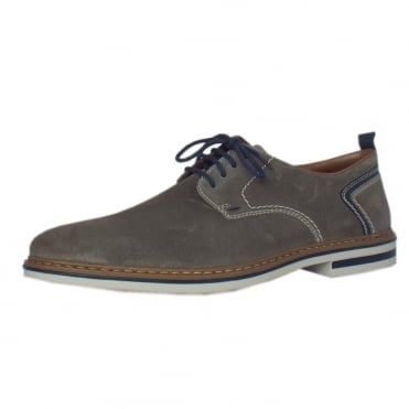 Pedro Men's Smart Casual Lace-Up Shoes in Sand Suede