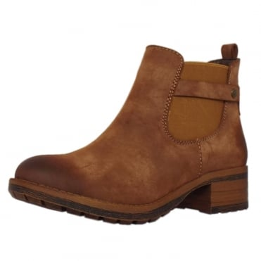 Poldark Fashion Fleece Lined Chelsea Boots in Brown