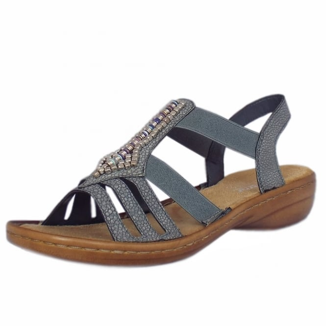 Rieker Queens Comfortable Fashion Sandals in Sky Blue