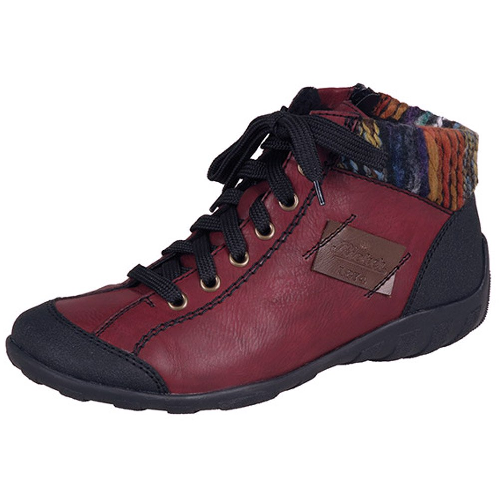 Rieker Rivage L6540-00 | Women's Short Winter Boots in Red ...