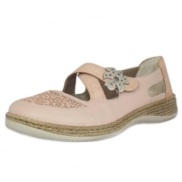 Rosebud Casual Mary-Jane Ballet Pump in Rosewood
