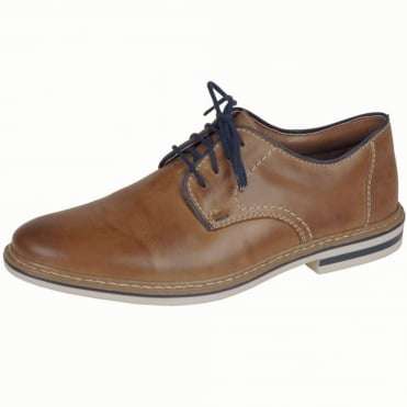 Rossi Men's Smart Casual Lace-Up Shoes In Tan Leather