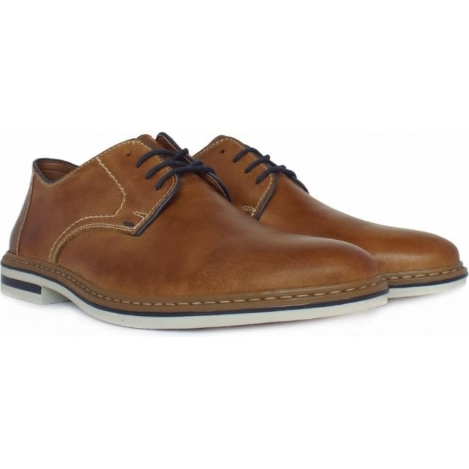 Rossi Men  039 s Smart Casual Lace-Up Shoes In Tan Leather ea5c4a128
