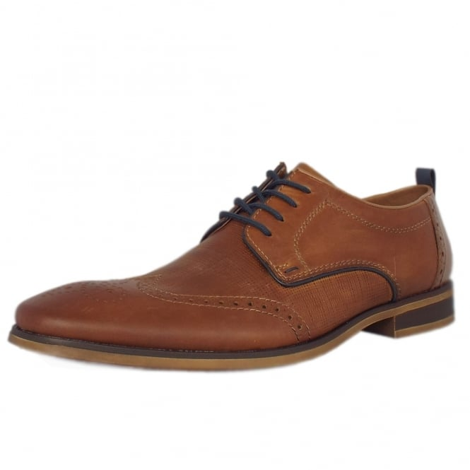 Rieker Sergio Men S Smart Casual Lace Up Shoes In Tan Mozimo