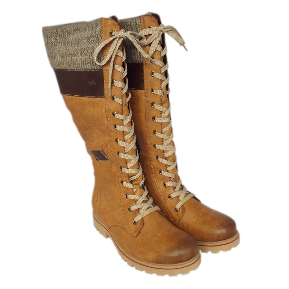 623417bc4 Rieker Snowboard Ladies Winter Boots in Sand | From Mozimo