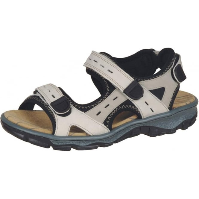 Hiking Sandals in Beige Leather