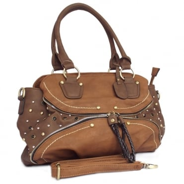 Stacey Women's Fashion Handbag in Tan Brown