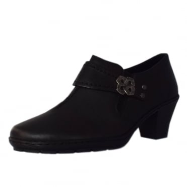 Stanning Casual Low Heel High Top Shoes in Black.