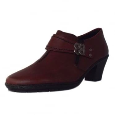 Stanning Casual Low Heel High Top Shoes in Dark Red.