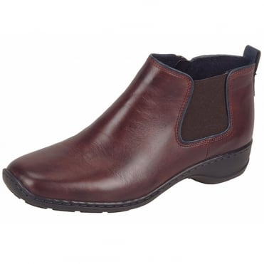 Tolworth Women's Casual Ankle Boots in Dark Red
