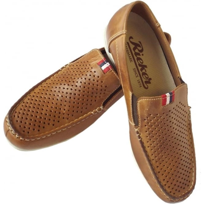 c50a15af007 Toto Mens Comfortable Summer Loafers in Tan Leather