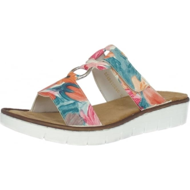 Mozimo Colour Rieker Ladies Sandal Adjustable Multi SandalsTulip Ybv7yfgI6