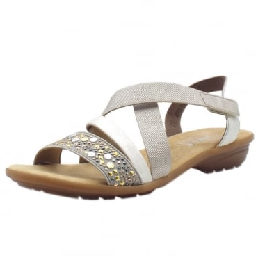 V3463-42 Darcy Comfortable Fashion Sandals in Ice