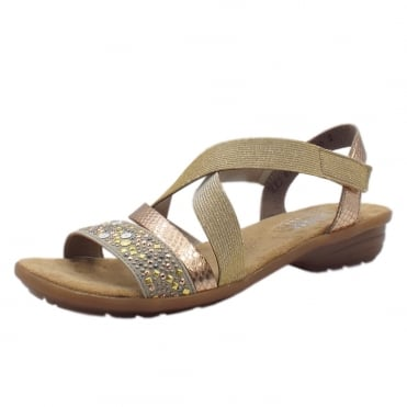 V3463-60 Dehli Street Comfortable Fashion Sandals in Beige