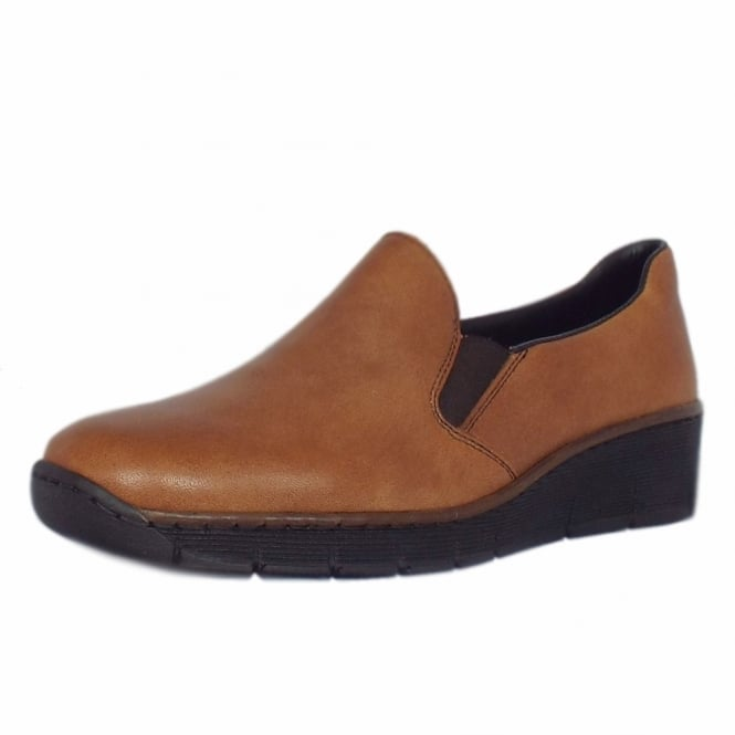 Rieker Wilmer Classic Leather Loafer in Tan