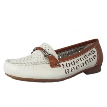 Yasmin Smart Casual Loafers in White