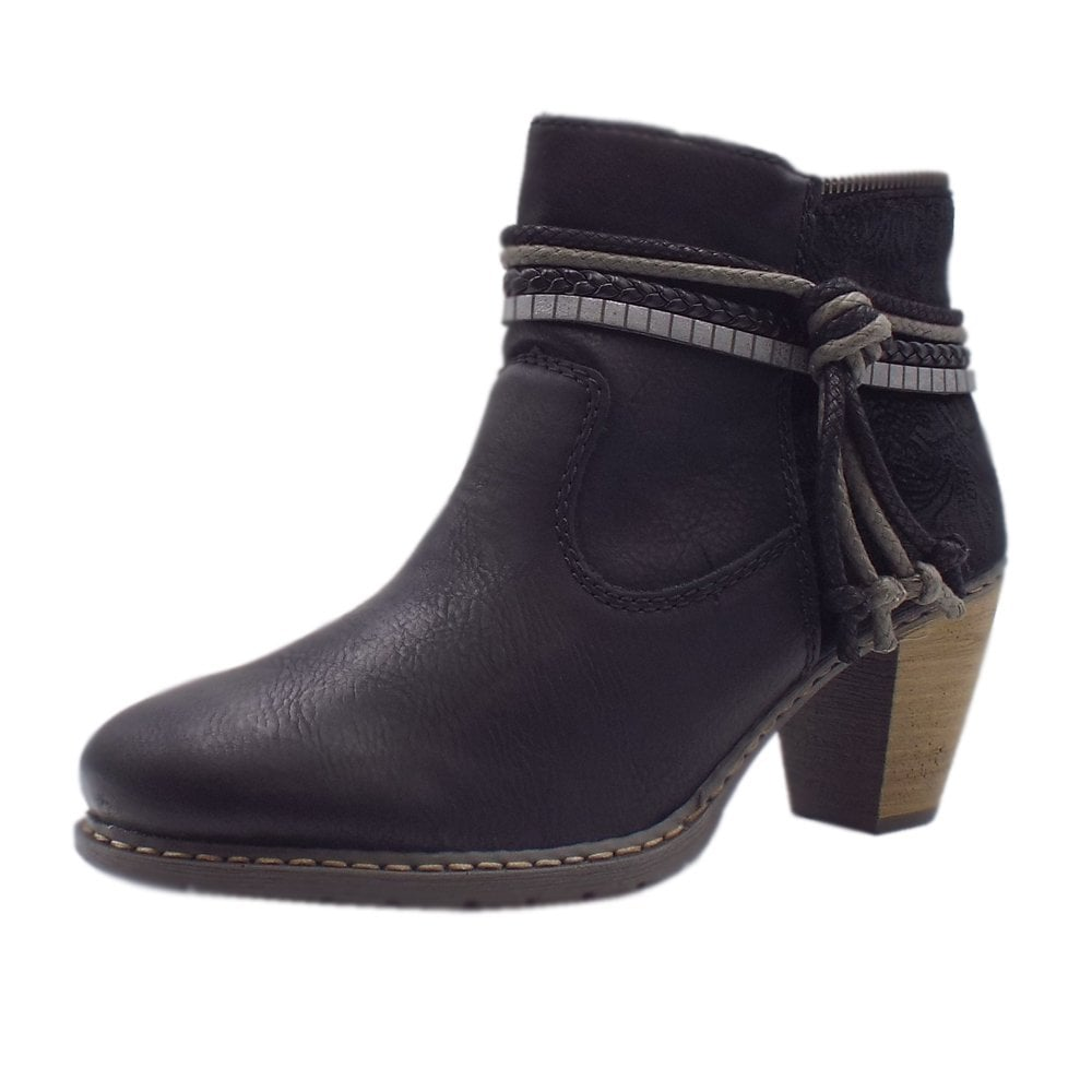 a709d2a33d5 Rieker Z1580-00 | Women's Fashion Winter Ankle Boots in Black | Mozimo
