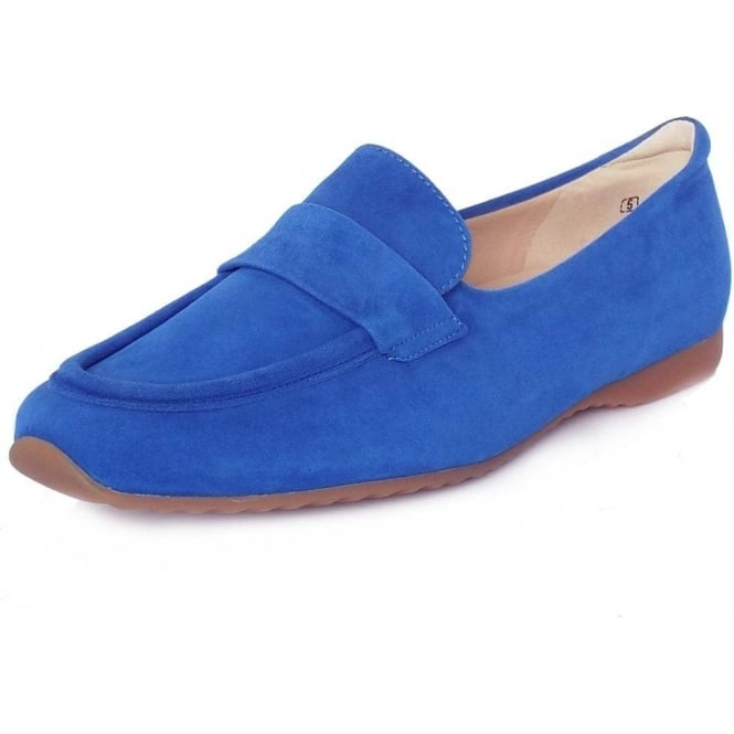 latest design on feet shots of various design Peter Kaiser Rienzi Women's Smart Loafer Shoes in Azzurro Suede