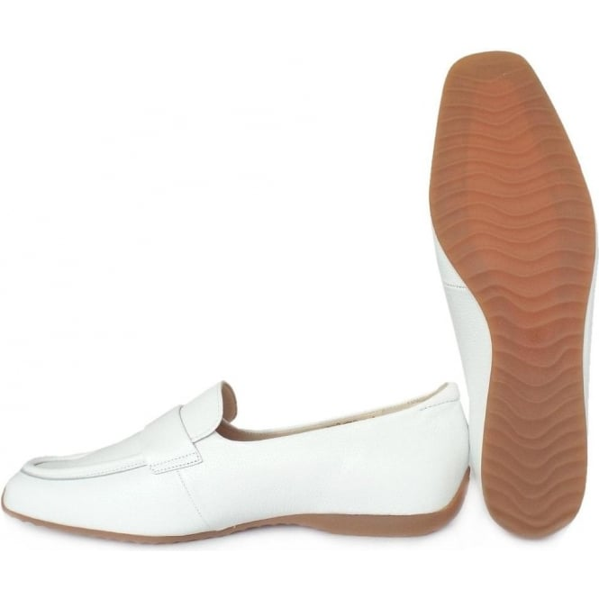 77ab7a8dbcd Rienzi Women  039 s Smart Loafer Shoes in White Leather