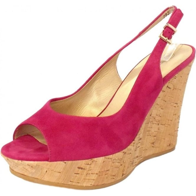 07f327db6601a Riga Ladies Wedge Sandals in Pink Suede