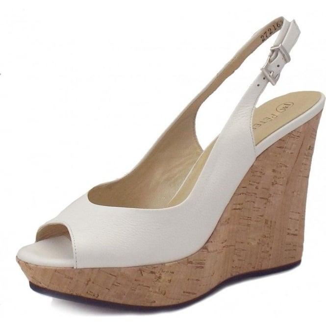 5175d049dbecc Riga Ladies Wedge Sandals in White Leather
