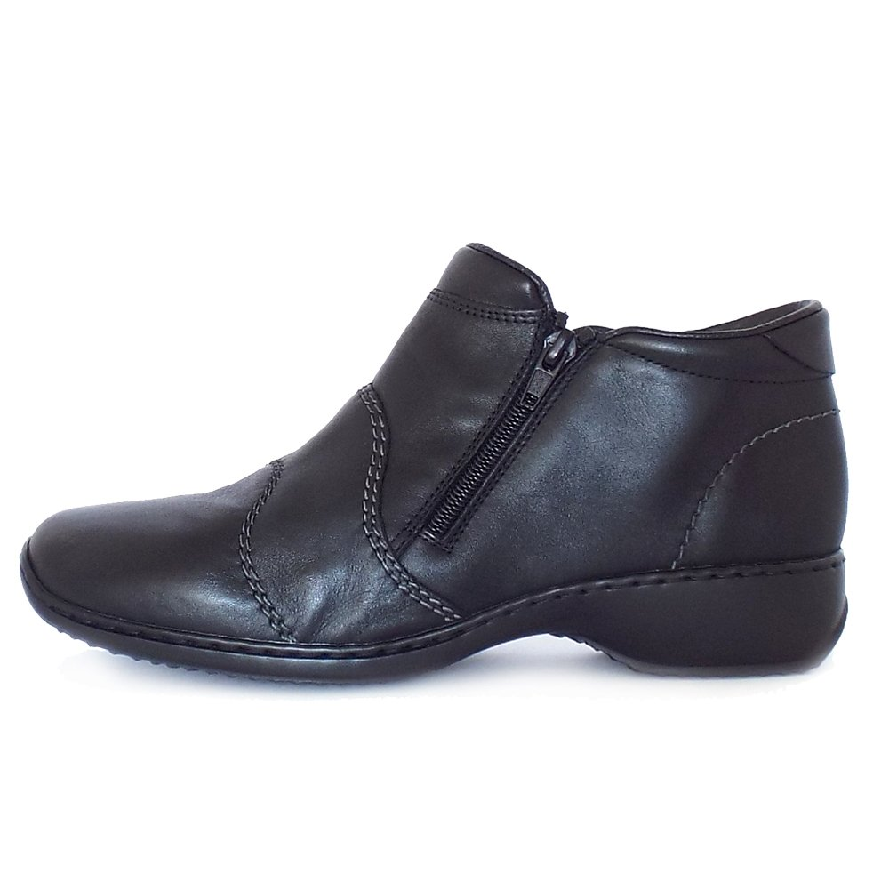 rieker river l3892 00 casual black leather boots