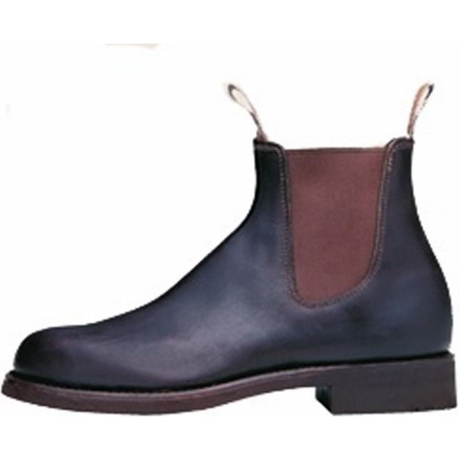 RM Williams Classic Mens Pull On Leather Ankle Boot