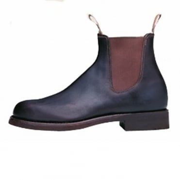 Classic Mens Pull On Leather Ankle Boot