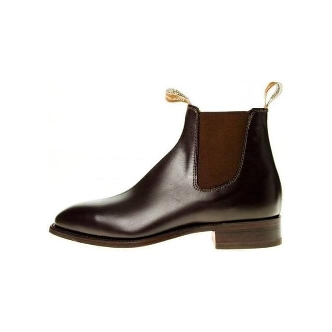 110cdefd10b2a RM Williams Craftsman | Mens Pull On Brown Leather Ankle Boots