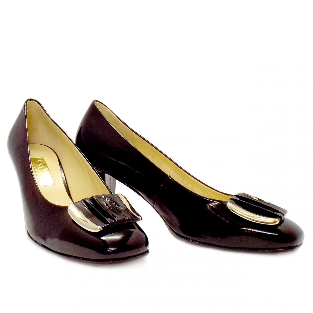 Gabor Shoes Robyn Black Patent High Heel Shoes Mozimo