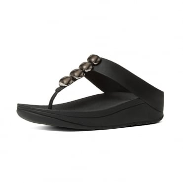 Rola™ Leather Toe Post Sandals in Black