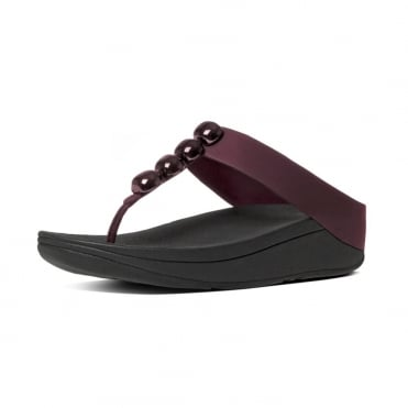 Rola™ Leather Toe Post Sandals in Hot Cherry
